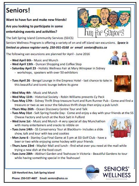 Seniors' Activities spring 16