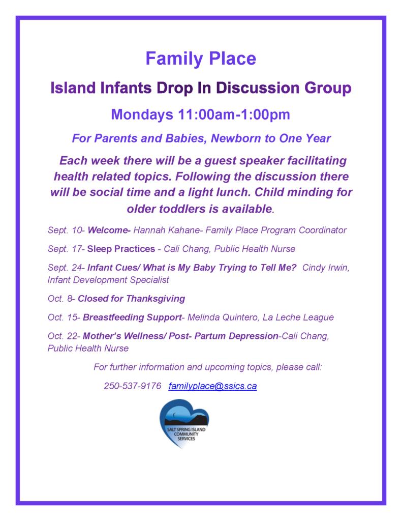 Island Infants Sept.- Oct. 2018
